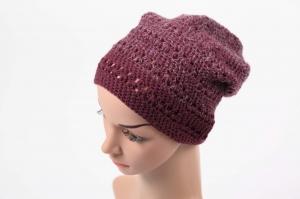 kuschelig Häkelmütze Mütze Wintermütze für Damen Beanie mit Degrade-Effekt - Handarbeit kaufen