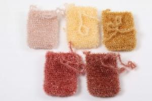 Seifensäckchen Duschschwamm  originell, nachhaltig und umweltschonend, waschbar Seife; Farbe wählbar, Seifenbeutel - Handarbeit kaufen