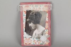 nostalgische Grußkarte Karte in Handarbeit hergestellt Klappkarte  - Handarbeit kaufen