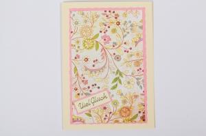 schlicht aber schöne Glückwunschkarte Grußkarte mit Sticker  - Handarbeit kaufen