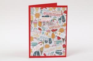Karte als Grußkarte oder auch Einladungskarte für Eis essen Sommer und draußen - Handarbeit kaufen