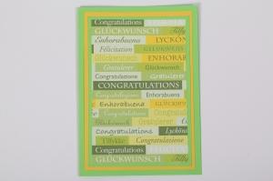 handgemachte Glückwunschkarte Geburstagskarte - schlicht aber wirkungsvoll - Handarbeit kaufen