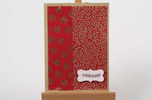 farbenfrohe handgemachte Karte als Grußkarte bunt und einmalig - Handarbeit kaufen