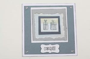 edle Geburtstagskarte oder Glückwunschkarte für viele Anlässe  - Handarbeit kaufen