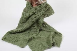 XL Stola gehäkelt federleicht: Wolle mit Mohair-Anteil Schultertuch, Häkelschal, Damen, Schal, - Handarbeit kaufen