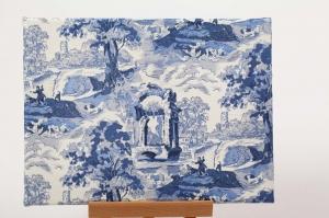 Wandbild toile de jouy mit Serviettentechnik / Decoupage auf Leinwand-Rahmen - Handarbeit kaufen