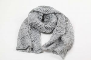 XL Stola gehäkelt federleicht: Wolle mit Mohair-Anteil Schultertuch, Häkelschal, Schal, - Handarbeit kaufen