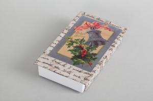 kleine Geschenkverpackung für Kostbarbkeiten oder Weihnachtsgeld - Streichholzschachtel nostalgisch verziert - Handarbeit kaufen