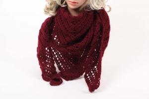 Dreieckstuch gehäkelt Schultertuch, Tuch,  luftig leicht und wärmend aus Wolle mit Mohair (Naturfaser)