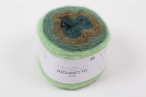Rico Design Creative Riguretto aran 100 Gramm / 280 M Lauflänge in Grün - Mix, super Wolle zum stricken oder häkeln - Handarbeit kaufen