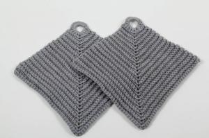 2er Set Topflappen aus 100% Baumwolle klassisch handgehäkelt - Handarbeit kaufen