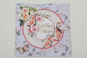 romantische Grußkarte 3D Karte in Handarbeit hergestellt  - Handarbeit kaufen