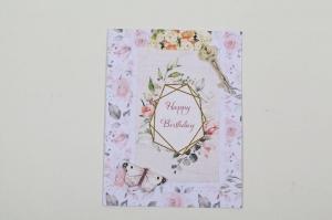 romantische Grußkarte Karte in Handarbeit im Vinage-Look hergestellt - Handarbeit kaufen