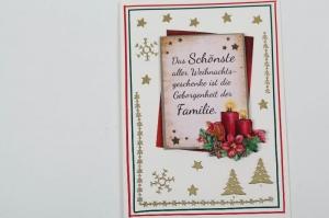 außergewöhnliche Weihnachtskarte in 3D an die Familie - Handarbeit kaufen