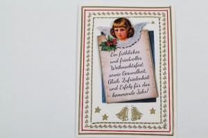 außergewöhnliche Weihnachtskarte in 3D Karte mit Engel - Handarbeit kaufen