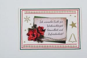 außergewöhnliche Weihnachtskarte in 3D mit einem schönen Spruch  - Handarbeit kaufen