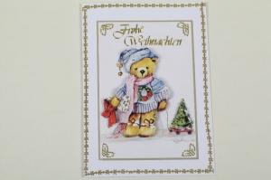 klassische Weihnachtskarte mit 3D-Motiv in aufwändiger Handarbeit hergestellt (Kopie id: 100285099) - Handarbeit kaufen