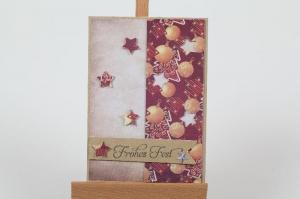 klassische Weihnachtskarte in aufwändiger Handarbeit hergestellt - Handarbeit kaufen
