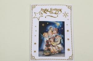 süße Weihnachtskarte mit 3D-Motiv in aufwändiger Handarbeit hergestellt  - Handarbeit kaufen