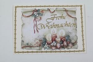 klassische Weihnachtskarte mit 3D-Motiv in Handarbeit hergestellt - Unikat - Handarbeit kaufen