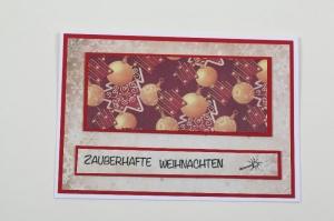 schöne Weihnachtskarte in aufwändiger Handarbeit hergestellt für eine Zauberhafte Weihnachten - Handarbeit kaufen
