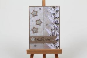schöne Weihnachtskarte in aufwändiger Handarbeit hergestellt: - Handarbeit kaufen