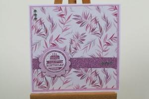 edle Geburtstagskarte mit Blumen und Glitter - Handarbeit kaufen
