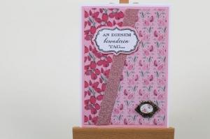 Romantische Geburtstagskarte Glückwunschkarte Grußkarte Geburtstag in Handarbeit hergestellt - Handarbeit kaufen