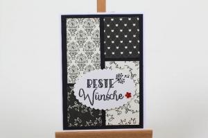 romantische Grußkarte Karte für viele Anlässe gebasteltDie  - Handarbeit kaufen