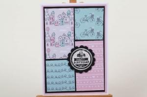 verspielte Geburtstagskarte Glückwunschkarte Grußkarte Geburtstag in Handarbeit hergestellt - Handarbeit kaufen