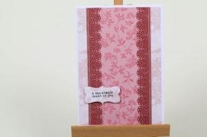 schlichte Grußkarte für ein kleines Dankeschön in Handarbeit hergestellt für viele Anlässe  - Handarbeit kaufen