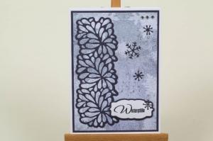 schöne Weihnachtskarte in aufwändiger Handarbeit hergestellt: Schneeflocken - Handarbeit kaufen