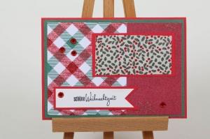 schöne Weihnachtskarte in aufwändiger Handarbeit hergestellt: schöne Weihnachtszeit - Handarbeit kaufen