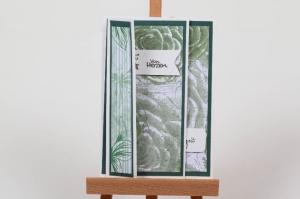 schöne Weihnachtskarte in aufwändiger Handarbeit hergestellt - besondere Faltung - Handarbeit kaufen