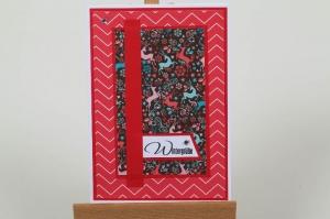 schöne Weihnachtskarte in aufwändiger Handarbeit hergestellt - Handarbeit kaufen