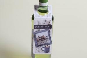 weihnachtlicher Flaschenanhänger Geschenkanhänger für Flaschen  (Kopie id: 100290207) - Handarbeit kaufen