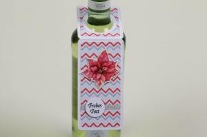 weihnachtlicher Flaschenanhänger Geschenkanhänger für Flaschen - Handarbeit kaufen