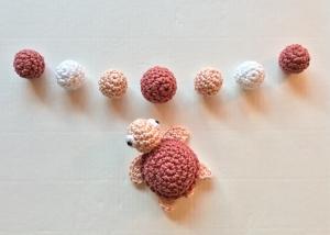 Set Häkelperlen Schildkröte, Holzkugeln 15 + 20mm umhäkelt, Catania Farbkarte