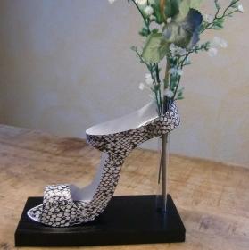 High Heel Blumenvase, wunderschöne Geschenkidee, Dekoration, Geschenk, Geburtstag, Schuhvase