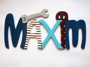 Handgefertigtes Namensschild, Türschild Schriftzug * Werkzeug * für die Kinderzimmertüre
