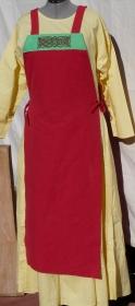 einfache Baumwollschürze mit handgesticktem Knotenmuster, Wikinger