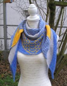 Maritim, Strickanleitung für ein Dreieckstuch aus Sockenwolle
