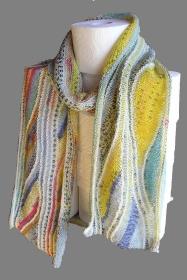 Eiscreme, Strickanleitung für einen Schal aus Sockenwolle
