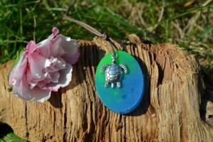 Anhänger Oval Schildkröte