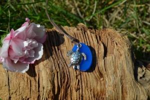 Anhänger oval klein Schildkröte