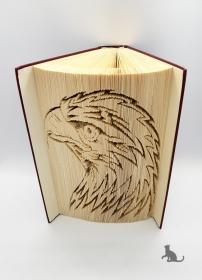 Gefaltetes Buch mit Tiermotiv ♥ Adler ♥ handgefertigt