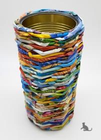 Hohe Aufbewahrungsdose handgefertigt aus Papier ♡ praktisch und dekorativ ♡