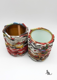 Aufbewahrungsdosen 2 Stück handgefertigt aus Papier ♡ praktisch und dekorativ ♡