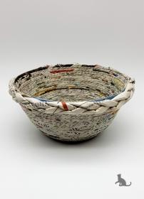 Schale handgefertigt aus Zeitungspapier ♡ praktisch und dekorativ ♡ als Geschenk oder für Zuhause