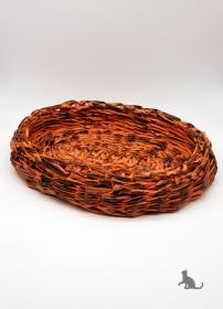 Schale oval handgefertigt aus Zeitungspapier ♡ praktisch und dekorativ ♡ als Geschenk oder für Zuhause